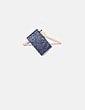 Bolso de mano azul glitter fiesta Uterqüe