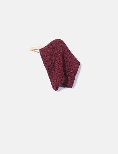 Cuello lana burdeos