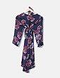 Vestido azul fluido print floral premama H&M