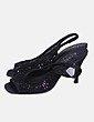 Sandalias negras glitter destalonadas Membur