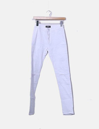 Jeans blanco ripped