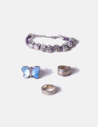 Pack pulsera con anillos