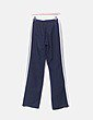 Pantalón azul marino con raya blanca Adidas