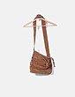 Bolso marrón con bordados etnicos NoName