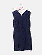 Vestido sin mangas azul marino Uterqüe