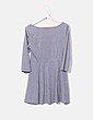 Vestido basic gris evasé H&M