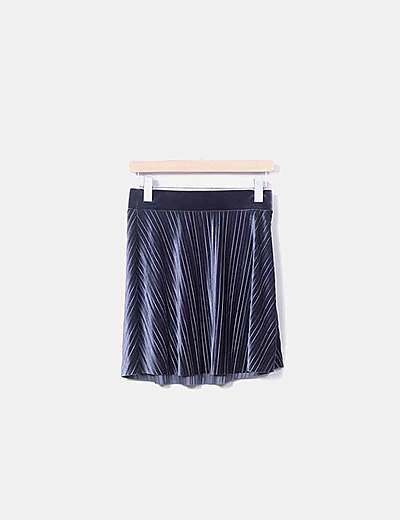 Mini falda plisada terciopelo