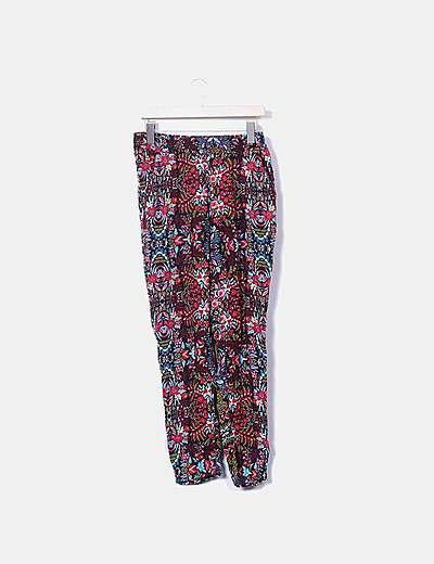 Pantalón baggy print floral