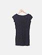 Mini vestido negro con raya blanca cruzada Etam