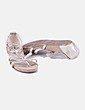 Sandalia beige glitter de tiras Carolina Boix