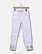 Jeans blanco con bajo bordado Desigual