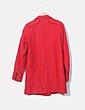 Abrigo rojo de paño Asos