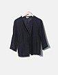 Blazer negra escote caja Zara