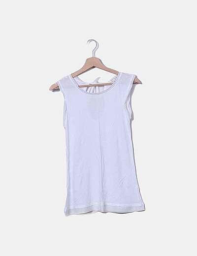 Camiseta tirantes blanca lazo espalda