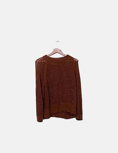 Jersey lana calado camel