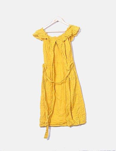 Vestido guipur amarillo