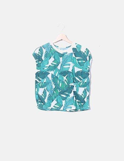 Camiseta estampado tropical