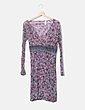 Vestido floral detalle rayas Miss Sixty