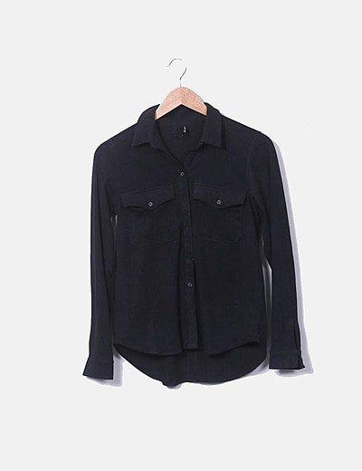 Camisa antelina negra