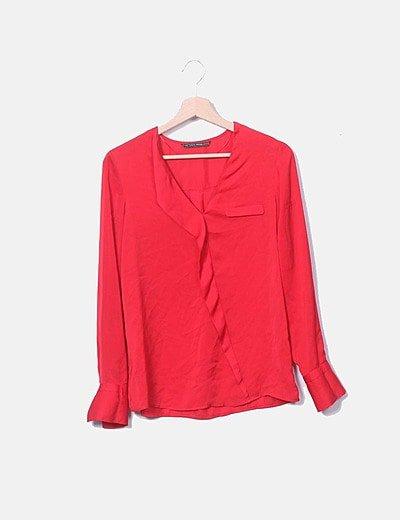 Camisa satén rojo