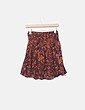 Falda estampada naranja Ichi