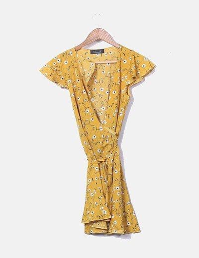 Vestido mostaza floral
