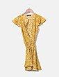 Vestido mostaza floral Chicwish