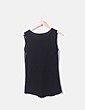 Camiseta combinada negra con troquelado Suiteblanco