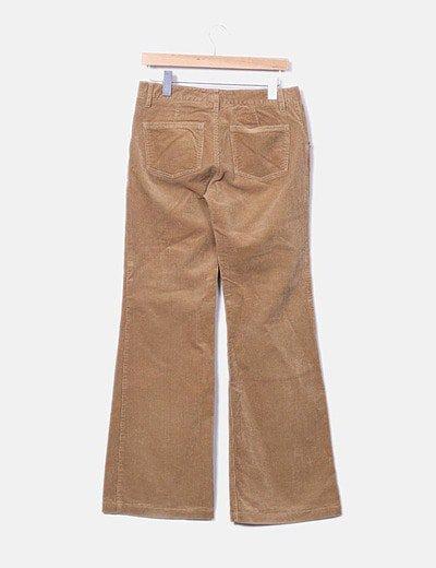 Zara Pantalon Pana Campana Camel Descuento 94 Micolet