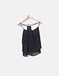 Blusa semitransparente negra volantes Bershka