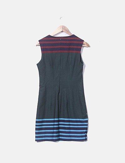 Desigual Vestido fluido estampado multicolor (descuento 81