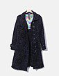 Abrigo largo negro print texturizado Desigual