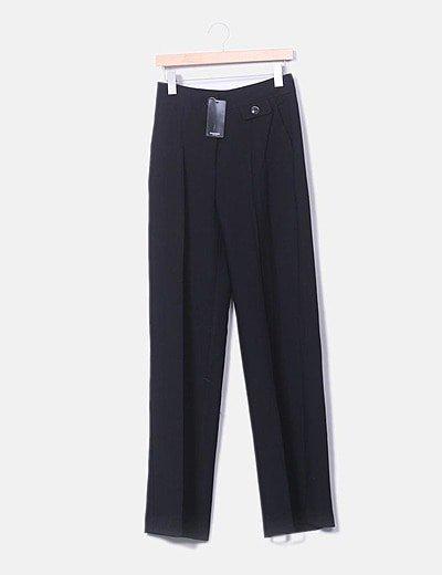Pantalón traje negro palazzo