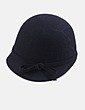 Sombrero negro con lazo Uterqüe