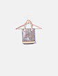 Bolso de mano con rayas multicolor Victorio & Lucchino