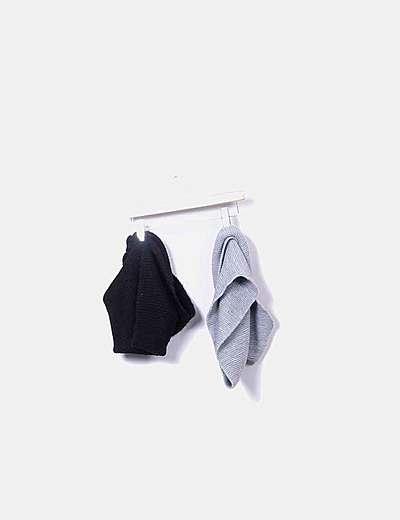 Pack cuellos negro y gris