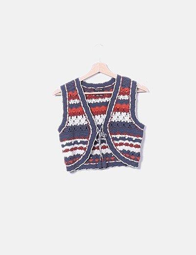 Chaleco tricot colores