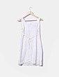 Vestido crudo con estampado en blanco Bambola