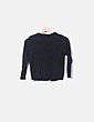 Jersey tricot negro botones Mango
