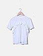 Camiseta blanca detalle plisado Asos