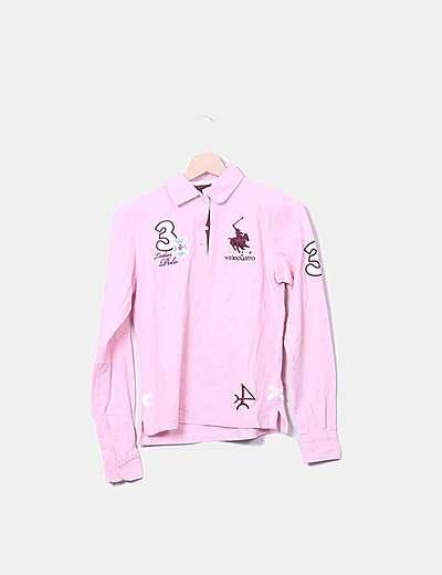 Polo rosa de manga larga