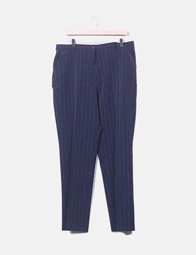 Pantalon de pinzas con raya diplomática