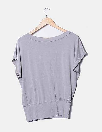 Camiseta taupé oversize