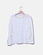 Camiseta beige detalle cuello Venca