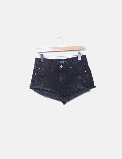 Short denim negro ripped