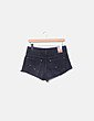 Short denim negro ripped Pull&Bear