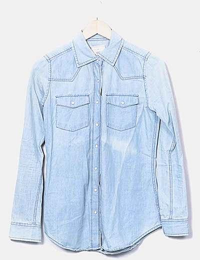 Camisa denim azul claro