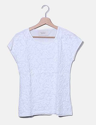 Camiseta de manga corta texturizada