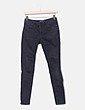 Pantalón denim negro desgastado Zara