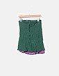 Falda verde costura morada Adolfo Dominguez
